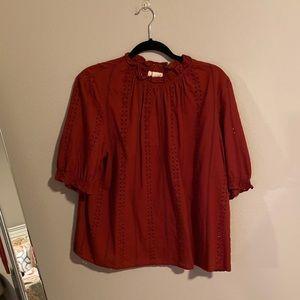 NWT Universal Thread Burnt Orange Blouse XL
